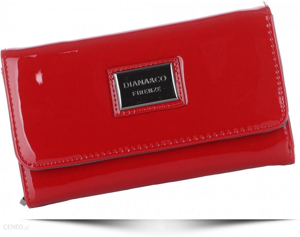 d8aea7c24d68f Klasyczne Lakierowane Portfele Damskie Diana Co Firenze Czerwone (kolory) -  zdjęcie 1