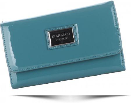5faf3a0877546 Klasyczne Lakierowane Portfele Damskie Diana Co Firenze Niebieskie (kolory)  ...