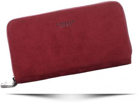 99b3d3ef51fa0 ... Elegancki portfel damski Harvey Miller czerwony skórzany. Klasyczne Portfele  Damskie Diana Co Firenze typu Piórnik pojemny dwukomorowy Bordowe ...