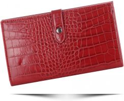 9c68a8126a599 Portfele Damskie Etui na Karty w rozmiarze XL firmy Diana&Co Firenze  Czerwone (kolory) ...