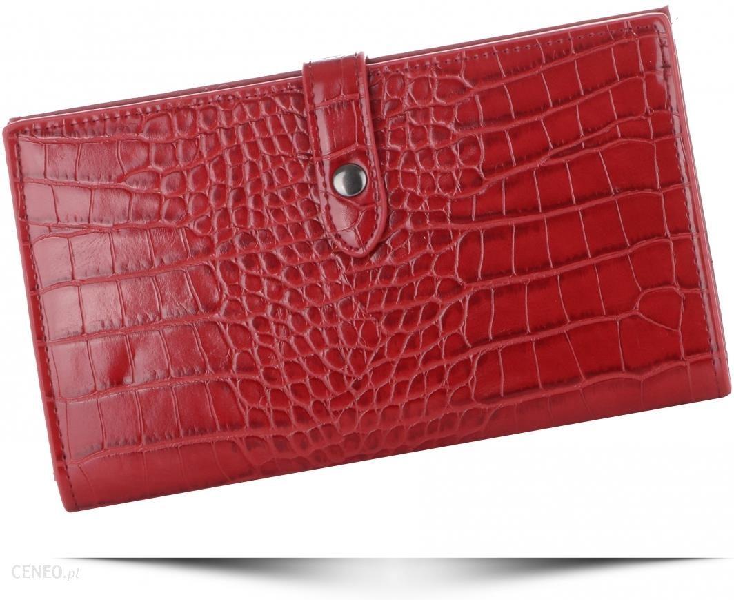 ac0b26fc8188a Portfele Damskie Etui na Karty w rozmiarze XL firmy Diana Co Firenze  Czerwone (kolory) -