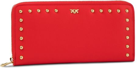 0c959bd82eda0 Duży Portfel Damski PINKO - Blonde Wallet Zip Around L PE 19 PLTT 1P21B6  Y5EU Red eobuwie