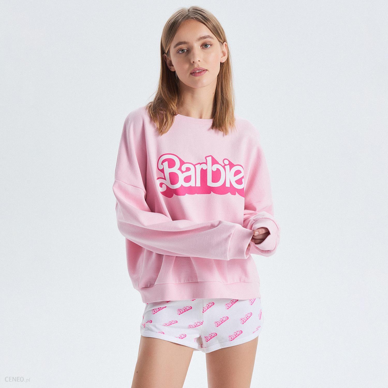 fb4add232674fc Cropp - Dwuczęściowa piżama z szortami Barbie - Różowy - Ceny i ...