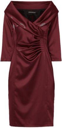 93cee3dbd6 Sukienka koktajlowa z satyny z drapowaniem Marie Noir ...