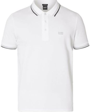 Boss Athleisure Koszulka polo z detalami w kontrastowym kolorze - Ceny i opinie T-shirty i koszulki męskie GCGD