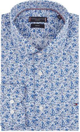 828d233a5b715 TOMMY TAILORED SF Koszula biznesowa o kroju slim fit ze wzorem w drobne  kwiaty ...