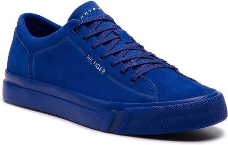 ea064c0bb6cc Tenisówki TOMMY HILFIGER - Corporate Suede Sneaker FM0FM02090 Mazarine Blue  ...