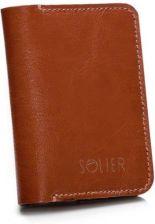 dfb9974401433 Cienki skórzany męski portfel z bilonówką SOLIER SW16 SLIM BRĄZ vaaco.pl -  zdjęcie 1