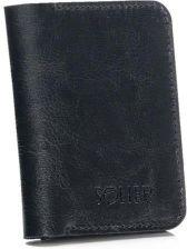 b7905b21c7f26 Cienki skórzany męski portfel z bilonówką SOLIER SW16 SLIM CZARNY vaaco.pl  - zdjęcie 1