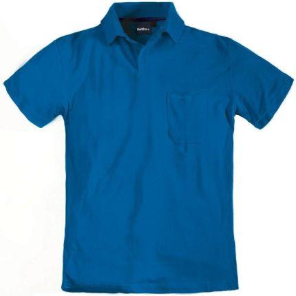 Koszulka polo niebieska NORTH 56°4 - Ceny i opinie T-shirty i koszulki męskie IUCN