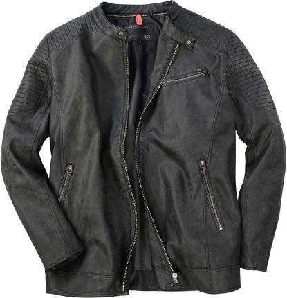 d6c39a0cf7003 Kurtka skórzana Replika Jeans czarna