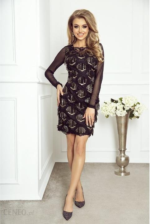 803d3cb5ce Dopasowana Sukienka Selena - Czarna Długi Rękaw