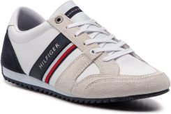 4851040aeba9b Sneakersy TOMMY HILFIGER - Essential Leather Runner FM0FM02045 Rwb 020  eobuwie