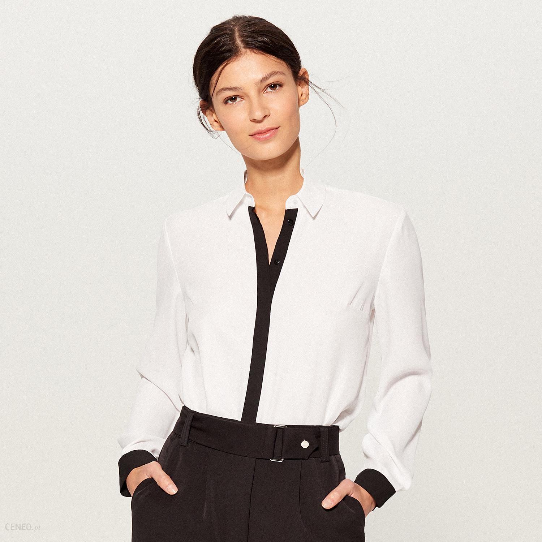 8ad5fd86c Mohito - Koszula z kontrastowym zdobieniem - Biały - Ceny i opinie ...