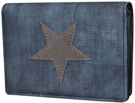 bb7be7ee949f6 Amazon Damski luksusowy płócienny portfel gwiazda portfel portmonetka portfel  damski, kolor: niebieski