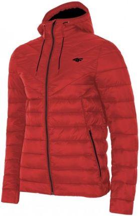 5cbbd4e52d6e2 Zimowa kurtka męska KUM004 4F, czerwony, rozmiar M