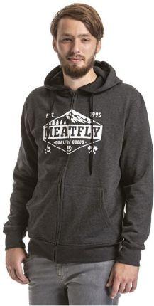 9a7af4ba7d63a MEATFLY Męska bluza z kapturem Wanderlust Hood czyli B- Heather Charcoal  (rozmiar L)