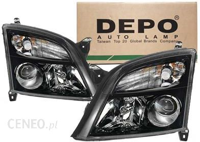 Depo Reflektory Lampy Przód Opel Vectra C Czarne 4421129lldem2 4421129rldem2