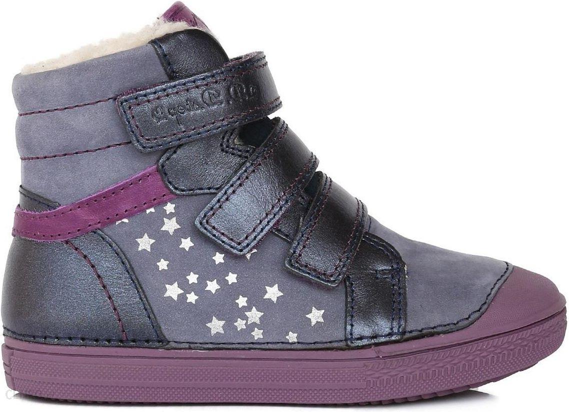521c4f62 D-D-step dziewczęce botki z gwiazdkami 30 fioletowy - Ceny i opinie ...