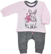 bb4a00d68c63ff Niemowlęce spodenki dresowe i T-shirt Koala Anitka różowo-szary