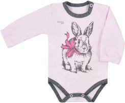 9b37983f8b3a7a Body niemowlęce z długim rękawem Koala Anitka różowo - szare