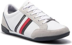 986938ac06356 Sneakersy TOMMY HILFIGER - Corporate Material Mix Cupsole FM0FM02046 White  100 eobuwie