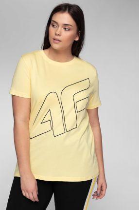 ea3eb62596 4F T-shirt damski TSD247 - jasny żółty 4F