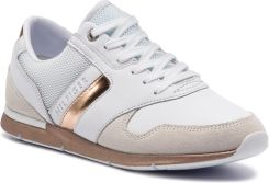 01ca8730756fd Sneakersy TOMMY HILFIGER - Iridescent Light Sneaker FW0FW04100  White/Rosegold 901 eobuwie