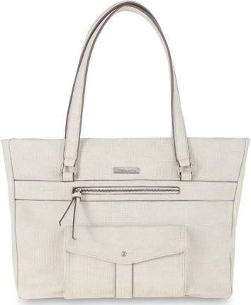 333d27348426d Tamaris Elegancka torebka Adriana Shopping Bag Light Grey 2651181-204