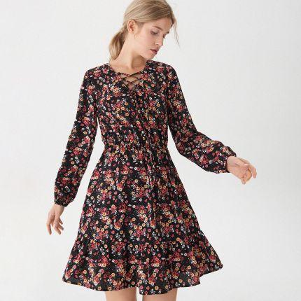ef609541aa House - Sukienka w kwiaty - Wielobarwn ...