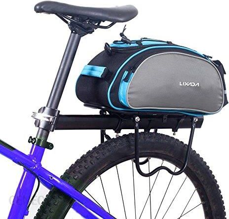 Amazon Lixada wielofunkcyjna torba na rower, pojemność 13 l, sakwa rowerowa na bagażnik rowerowy, torba podręczna, torba na ramię (bez paska)