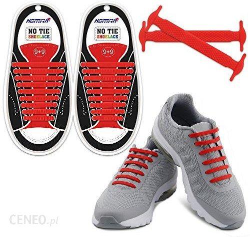 Elastyczne SZNURÓWKI SZNUROWADŁA buty dla biegaczy czerwone