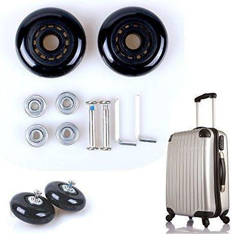 9d01b3b1c93d6 Amazon Fresh66 para walizka na bagaż zapasowe kółka guma metal do walizki  na kółkach walizka na