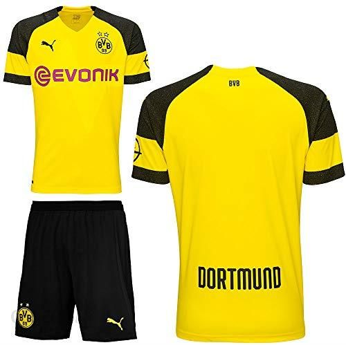 9434885b5f3ed Amazon Puma BVB Borussia Dortmund zestaw piłkarski Home zestaw domowy 2018  2019 męski dzieci z imieniem gracza, xl