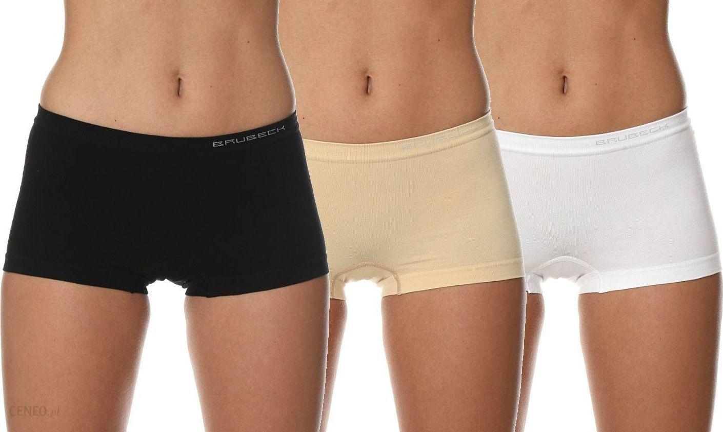 018cd1511ce5b4 Brubeck Bokserki damskie Comfort Cotton zestaw 3szt. beżowy/biały/czarny r.  XL