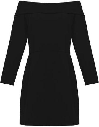 e1b2d4d69e risk KRÓTKO I NA TEMAT czarna - dresowa sukienka z kieszeniami