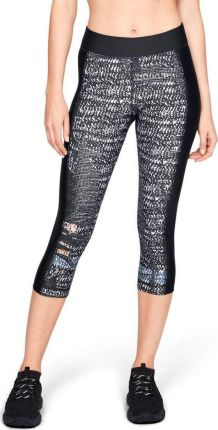 e9fac1f3fb66f8 Under Armour Legginsy damskie Print Armour Capri-BLK 1310667-002 czarne r.