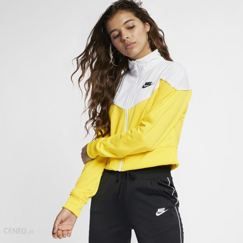 Damska bluza dresowa Nike Sportswear Heritage Żółć Ceny i opinie Ceneo.pl