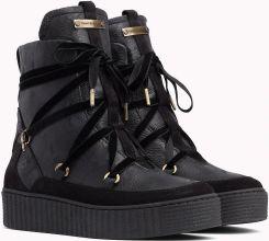 6b31b707a2e44 Tommy Hilfiger czarne buty skórzane Cozy Warmlined Leath - 42