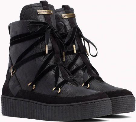 a9dd88dd1a8a0 Tommy Hilfiger czarne buty skórzane Cozy Warmlined Leath - 42
