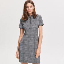 c335886efe126b Reserved - Sukienka w pepitkę - Wielobarwn - Ceny i opinie - Ceneo.pl