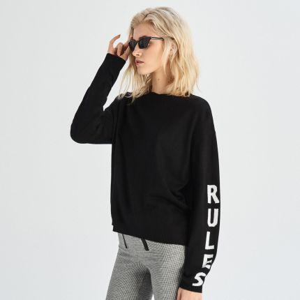 Reserved Długi sweter z kołnierzem Czarny Ceny i