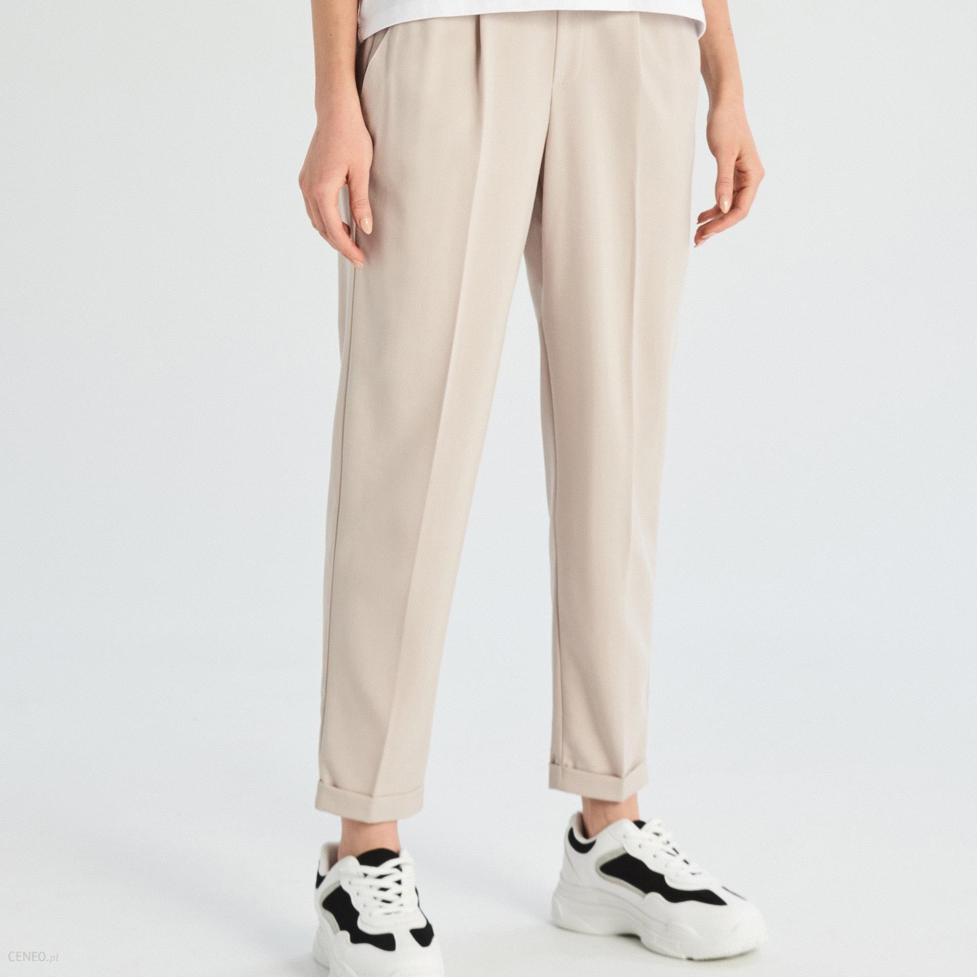 426785e76cf7c6 Sinsay - Spodnie chino - Kremowy - Ceny i opinie - Ceneo.pl