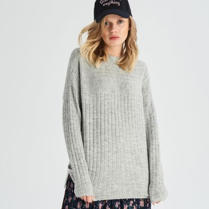59caa7e9fdb5 Sinsay - Sweter z wiązaniem z tyłu - Różowy - Ceny i opinie - Ceneo.pl