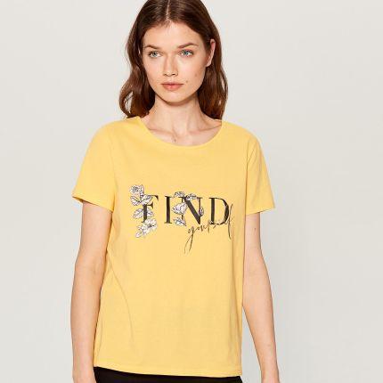 4984faec1b71 Sinsay - T-shirt z błyszczącą fakturą - Srebrny - Ceny i opinie ...