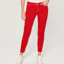 2edb2230011f Mohito - Jeansy skinny fit - Czerwony