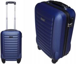 e00623a59b71a Pojemna twarda walizka 28L ciche kółka niebieska Allegro