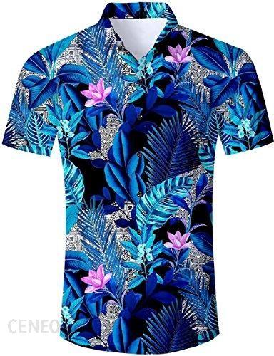 Amazon TUONROAD koszula hawajska męska, 3D Printed Funky