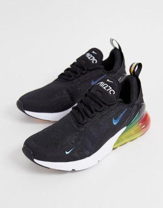 Nike Air Max 270 AH8050 006 BlackHyper GrapeYellowMagenta Men's Shoes
