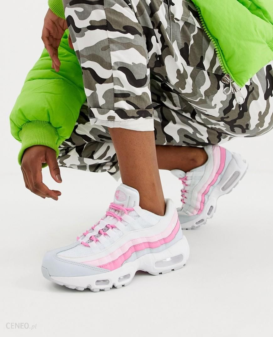 Nike White And Pink Air Max 95 trainers White Ceneo.pl